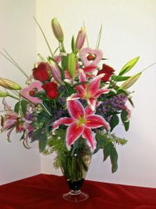 The Bel Aire  Luxurious Lilies Bouquet