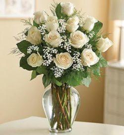 Premium Long Stem White Roses