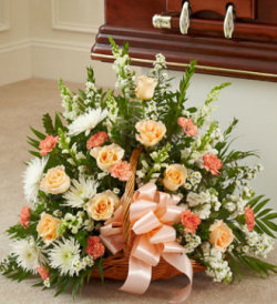 Peach, Orange, and White Mixed Fireside Basket