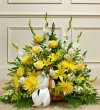 Yellow and White Fireside Basket