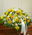 Cherished Memories Half Casket Spray - Yellow
