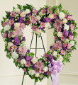 Always Remember Floral Heart Tribute - Lavender