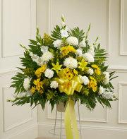 Heartfelt Sympathies Standing Basket - Yellow