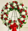 Serene Blessings Standing Wreath - Red & White