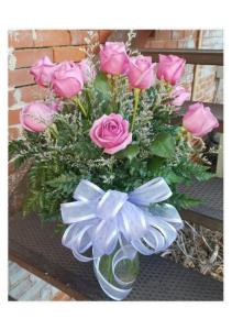 Dozen Lavender Roses with Accent flowers