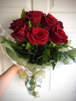 Classic Wrapped Red Roses