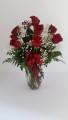 Red Roses Dozen Vase