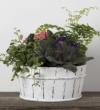 Earthy Flowering Planter