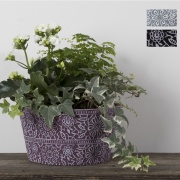 Lovely Lace Ceramic Flowering Planter