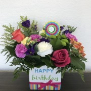 BOLD AND BRIGHT BIRTHDAY  BOUQUET