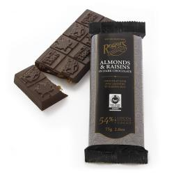 Rogers' Almond and Raisins Dark Chocolate Bar