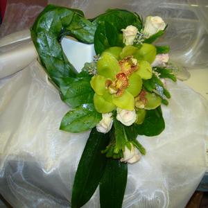 Green Cymbidium Heart