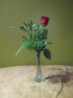 Red Rose Budvase