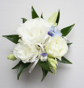 Oleander\'s Bright Whites Corsage