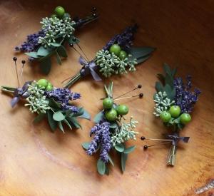 Oleander\'s Lavender Fields Boutonniere