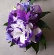 Oleander's Vivacious Violet Corsage