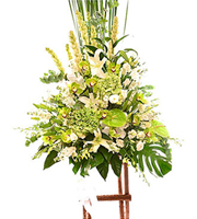 Arrangement of Cut Flowers with Stand