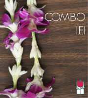 Combo Lei - Purple Dendro/Tuberose