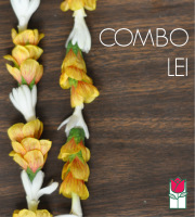 Combo Lei - Orange Lantern/Tuberose