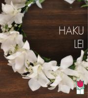 White Haku Lei
