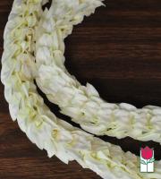 White Pikki Orchid Lei