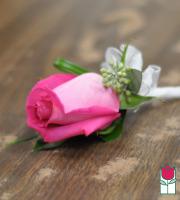 Boutineer - Single Pink Rose