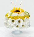 The FTD® Birthday Smiles™ Floral Cake
