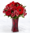 The FTD® Red Reveal™ Bouquet- VASE INCLUDED