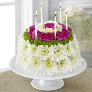 The FTDR Wonderful WishesTM Floral Cake