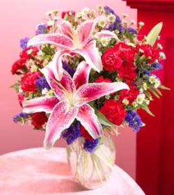 Spirited Mixed Bouquet with Vase