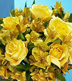 Citrus Burst  Bouquet - Wrapped