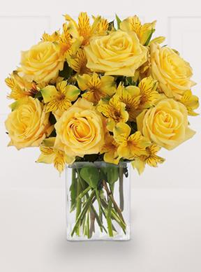 Citrus Burst  Bouquet - With Vase