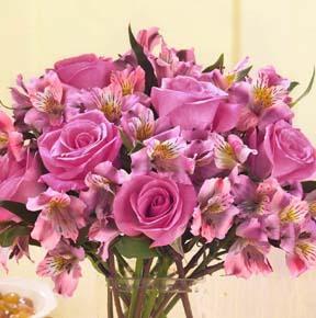 Purple Passion Rose & Lily Bouquet