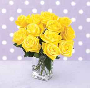 Yellow Rose Bouquet with FREE Vase