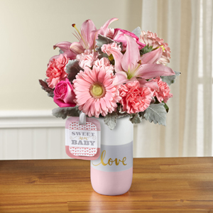 The FTD® Sweet Baby Girl™ Bouquet by Hallmark