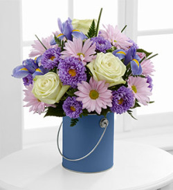 The FTD® Color Your Day With Tranquility™ Bouquet