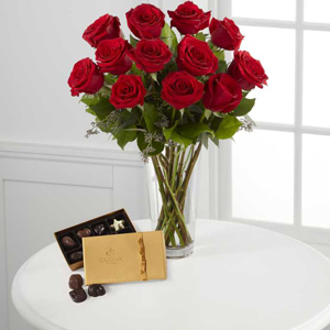 The FTD® Red Rose and Godiva Bouquet