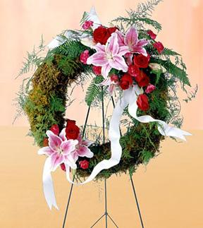 The FTD® Lily & Rose Wreath