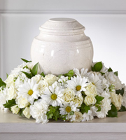 The FTD® Ivory Gardens™ Cremation Adornment