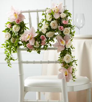 The FTD® Orchid Rose™ Chair Décor