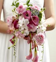 The FTD® Pink Cascade™ Bouquet
