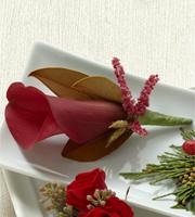 The FTD® Red Calla Boutonniere