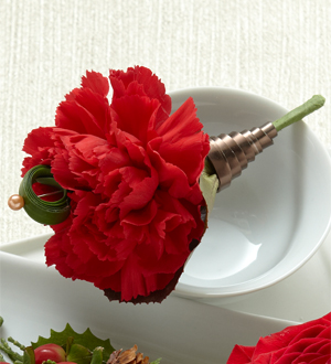 The FTD® Red Carnation Boutonniere