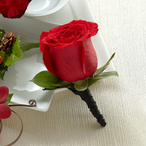 The FTD® Red Rose Boutonniere
