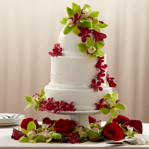 The FTD� Elegant Orchid Cake D�cor