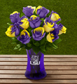 The FTD� Louisiana State University� Tigers� Rose Bouquet - 12 Stems