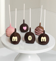 Belgian Chocolate Dipped Mother's Day Cake Pops - 6 piece
