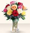 1 Dozen Mixed Color Roses