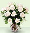 The FTD® Enchanting™ Rose Bouquet - White