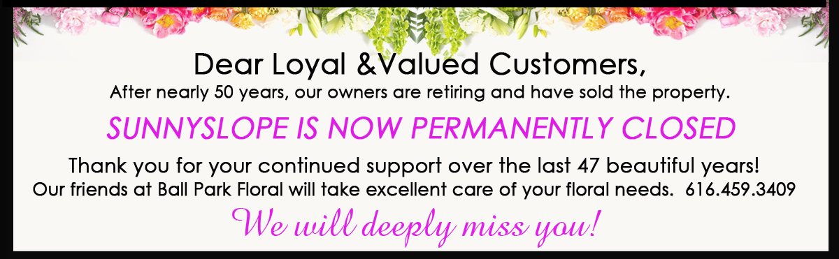 SAME DAY Flower Delivery and Same Day Gift Delivery by Grand Rapids Florist Sunnyslope Floral